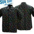 SUN SURF(サンサーフ)REGULAR COLLAR SHIRT『FULA&PALMTREE』SS38406-128 Navy