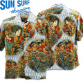 SUN SURF(サンサーフ×歌川国芳)アロハシャツ HAWAIIAN SHIRT『SPECIAL EDITION/通俗水滸伝豪傑百八人之一個』SS38470-125 Blue