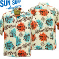 SUN SURF(サンサーフ)アロハシャツ HAWAIIAN SHIRT『KEONI OF HAWAII/GOUGUIN WOOD CUT by JOHN MEIGS』 SS38466-105 Off White