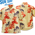 SUN SURF(サンサーフ)アロハシャツ HAWAIIAN SHIRT『SPECIAL EDITION/KARAJISHI BOTAN』SS38550-105 Off White