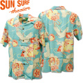 SUN SURF(サンサーフ)アロハシャツ HAWAIIAN SHIRT『SPECIAL EDITION/THE CRY OF CRAN』SS38679-123 Turquoise