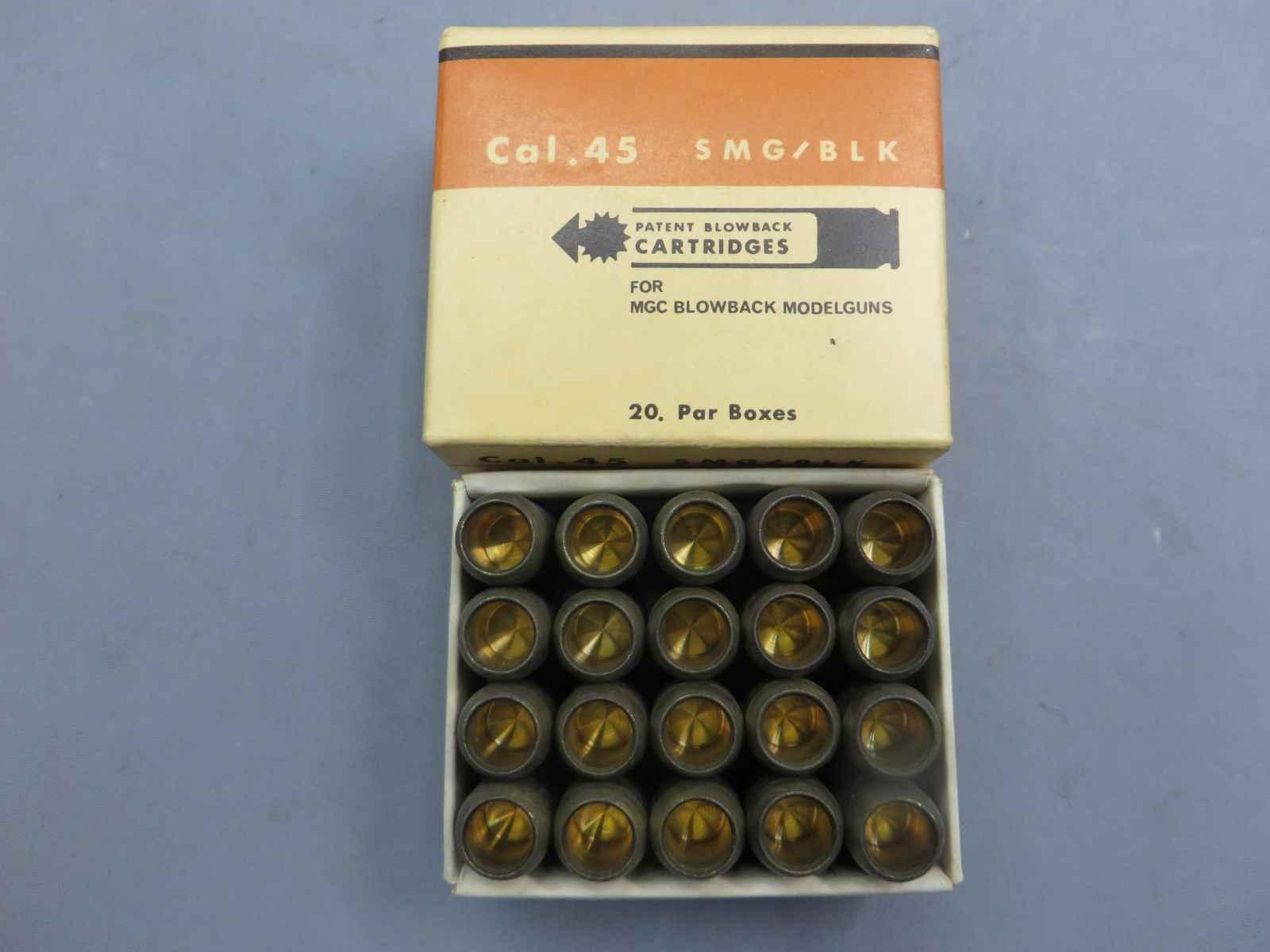 【MGC】Cal,45 SMG/BLK PATENTブローバック カートリッジ 20発