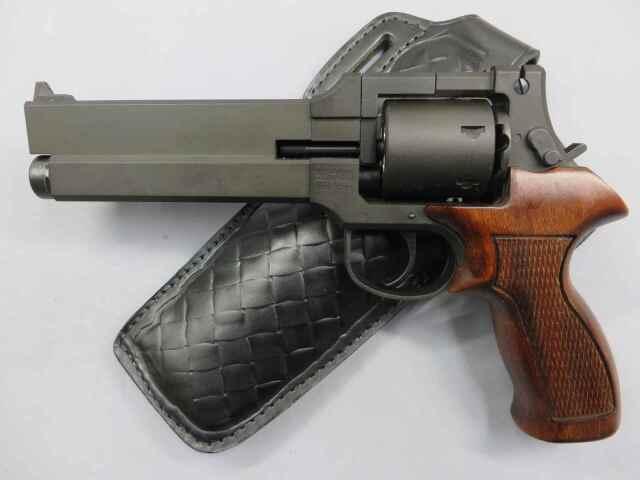 【マルシン】マテバ・リボルバー ブラックHW 木製グリップ仕様 6mmBB Xカートリッジ ホルスター付き