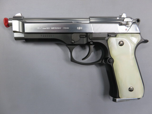 【東京マルイ】 M92F スライドシルバー / ホワイトパール調グリップ