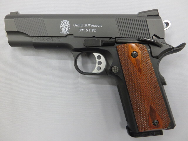 【ウエスタンアームズ】S&W SW1911 PD / 木製グリップ