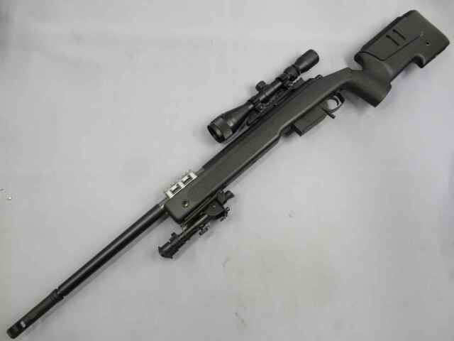 【東京マルイ】M40A5 ブラック / スコープ・バイポッド アメリカ海兵隊採用スナイパー エアーコッキング ボルトアクション