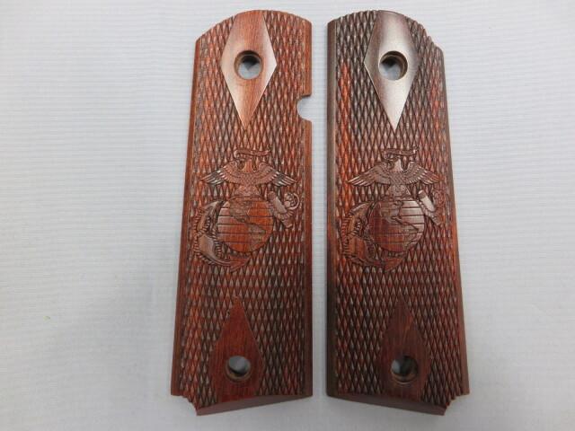 【不明】1911フルサイズ 海兵隊  木製グリップ