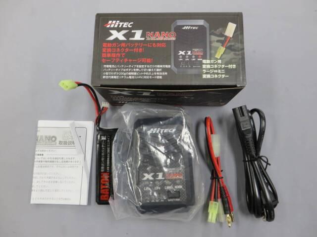 【HiTEC】X1 NANO 充電器 / BATON Lipoバッテリー