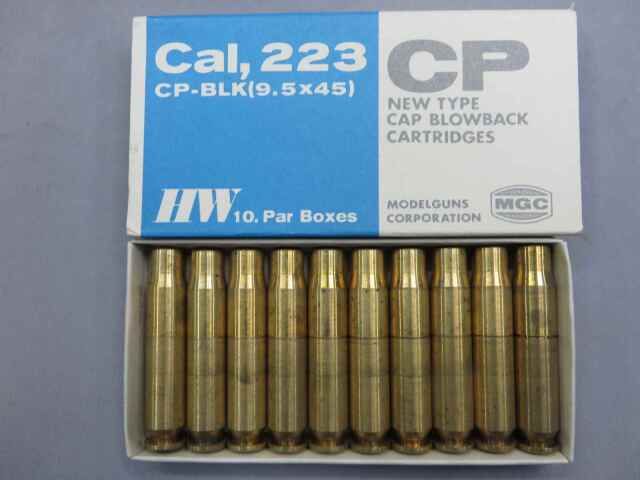 【MGC】Cal,223 CP-BLK(9.5×40)CP NewType CAPブローバック カートリッジ10発