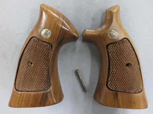 【S&W純正】S&W Kフレーム オーバーサイズ スクエア 木製グリップ