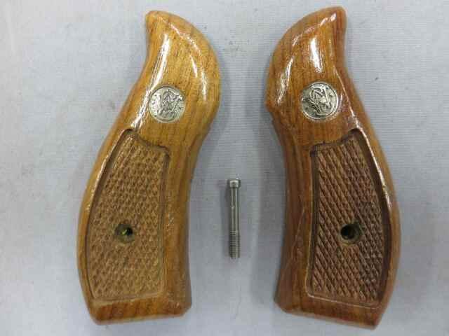 【S&W純正】S&W Kフレーム マグナ ラウンドバット 木製グリップ