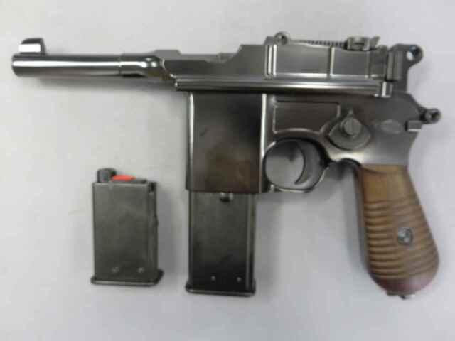 【マルシン】モーゼルM712 ショート Wディープブラック 6mmBB ブローバック
