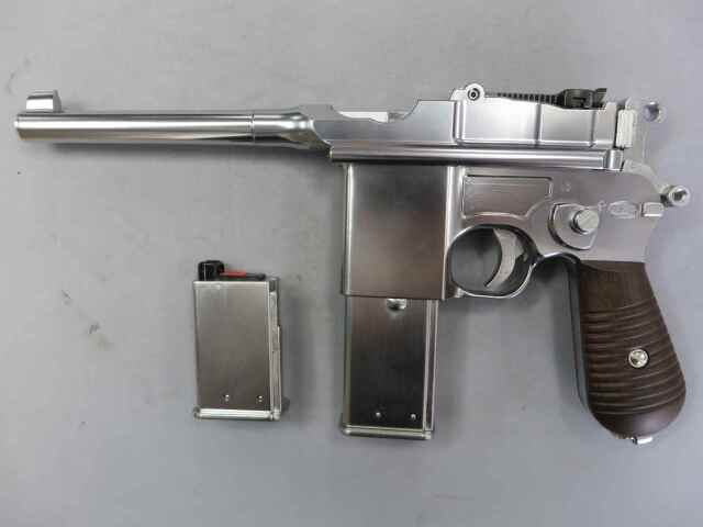 【マルシン】モーゼルM712 ノーマル シルバー 6mmBB ブローバック