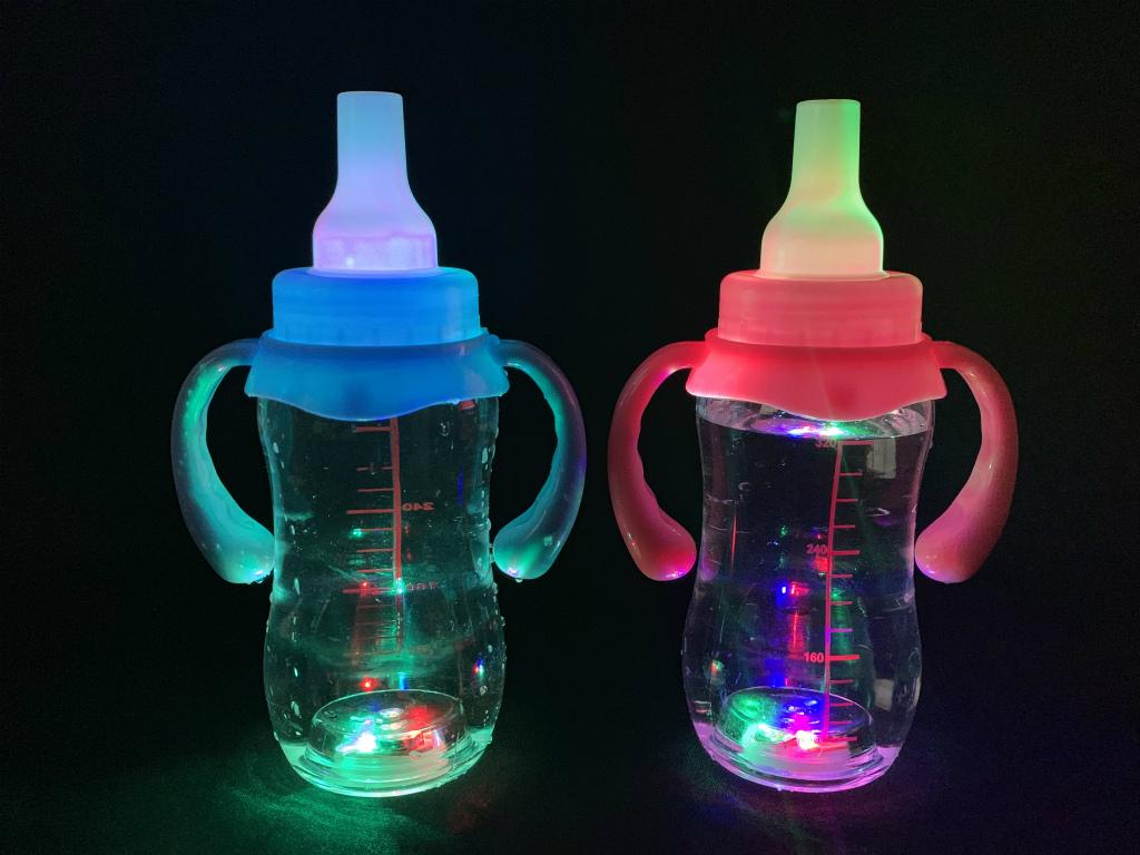 【大SALE】光る 哺乳瓶風ボトル(持ち手付) 12個@176円
