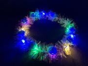 光る 輝くフラワークラウン