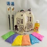 【落書きせんべい屋さん】50枚+1 /6色砂糖/筆2本/シロップ付