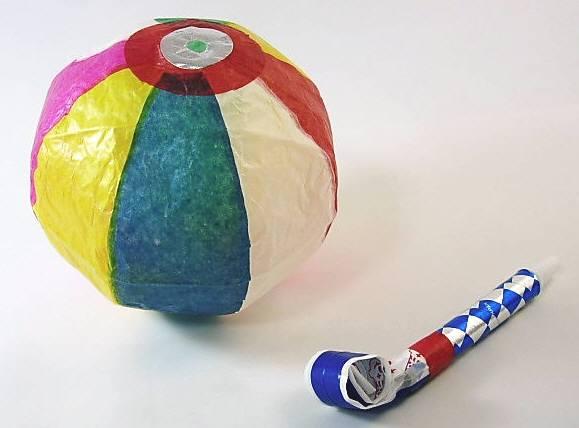 まとめ買いおまけつき49+1個 紙風船、吹き戻しセット