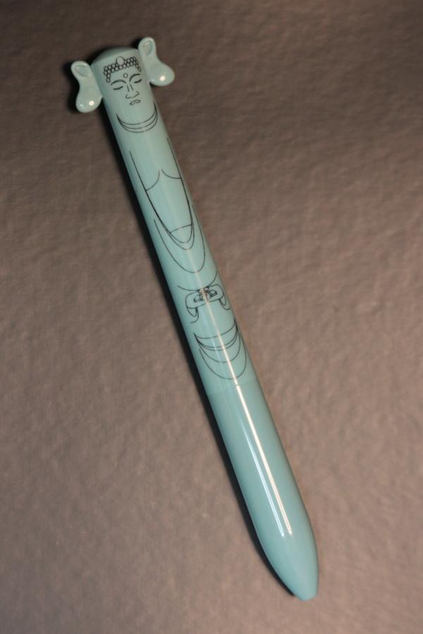 大仏さまのボールペン青