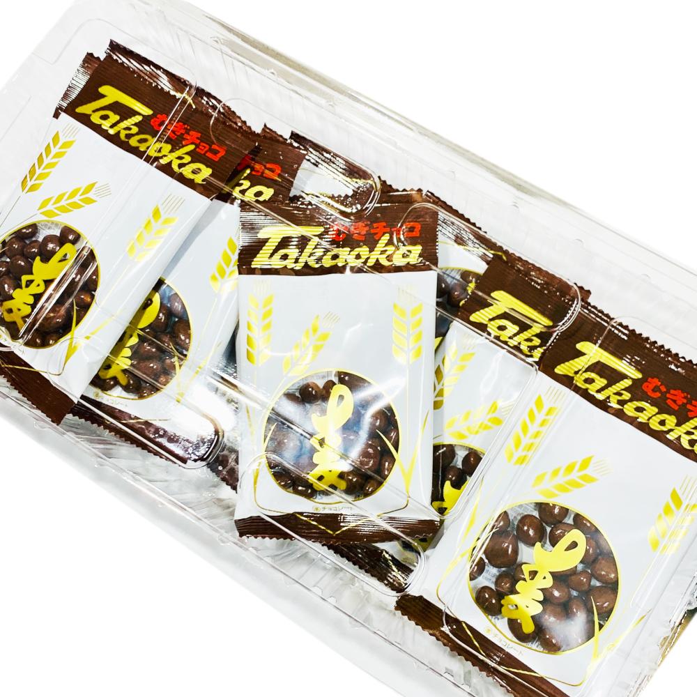 小さな子供からご年配の方まで人気のタカオカの麦チョコは人気です。配布・お菓子まき,プレゼントにご利用ください
