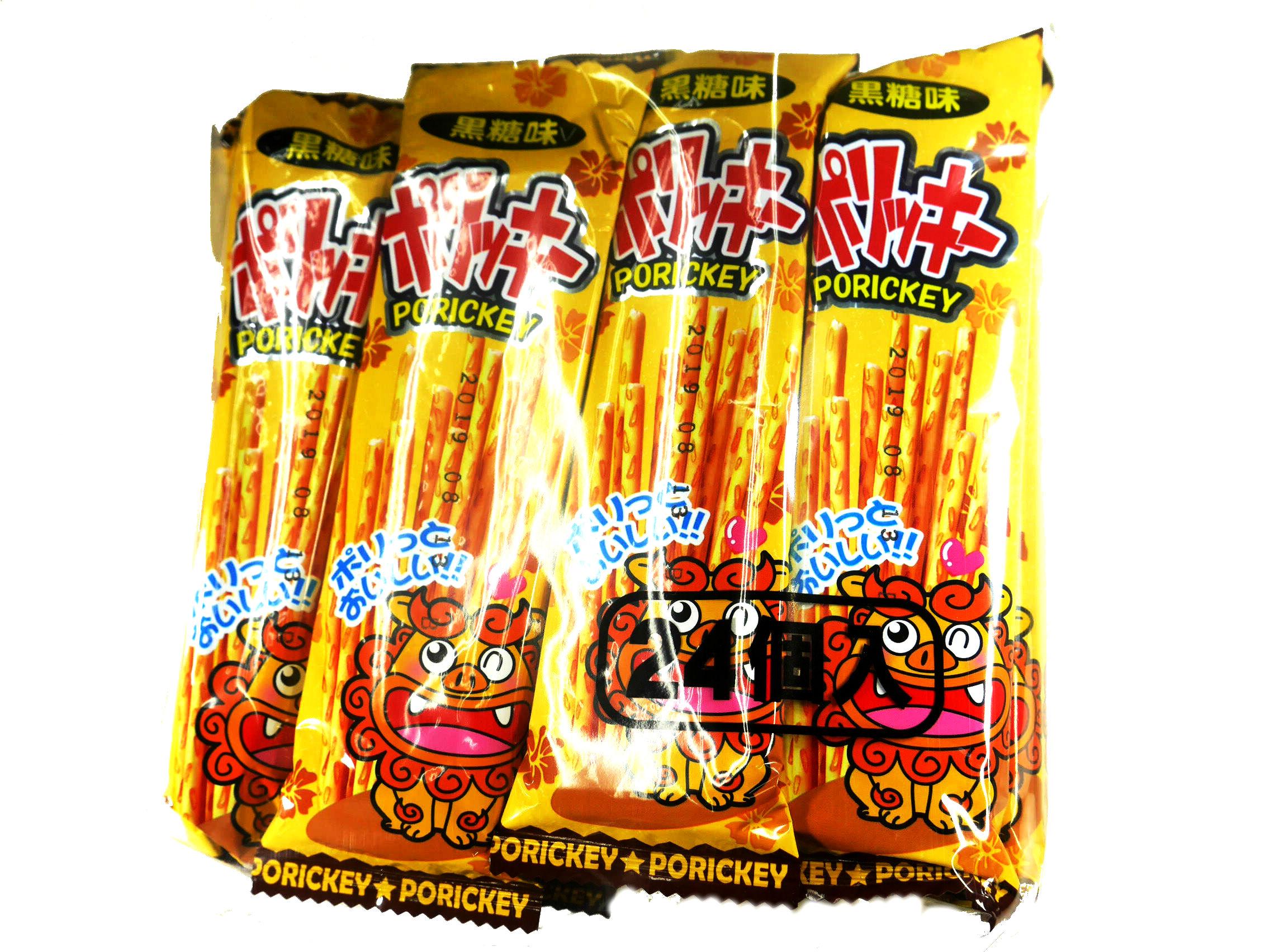 業務用 駄菓子問屋 【15円 ポリッキー黒糖味】 24個入り