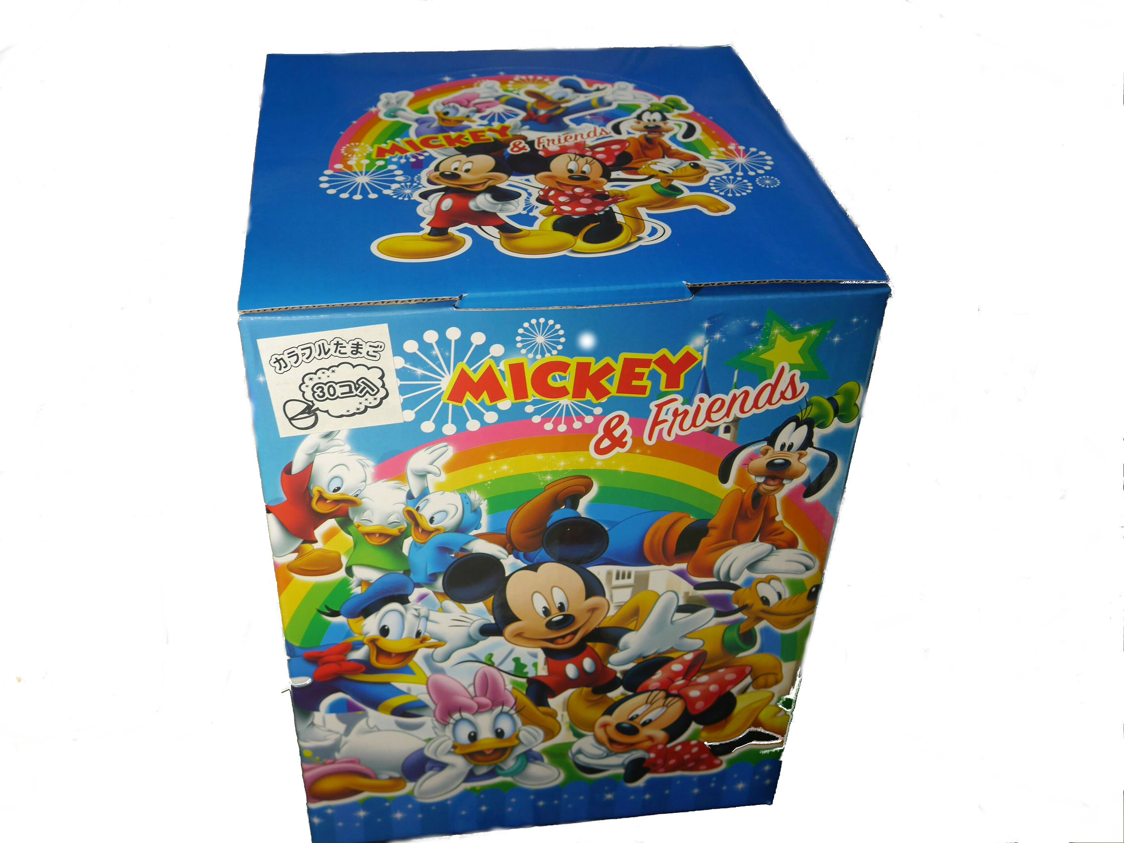 ディズニーカラフルたまごくじタマゴの中にはどんなおもちゃが入っているかは開けてのお楽しみ