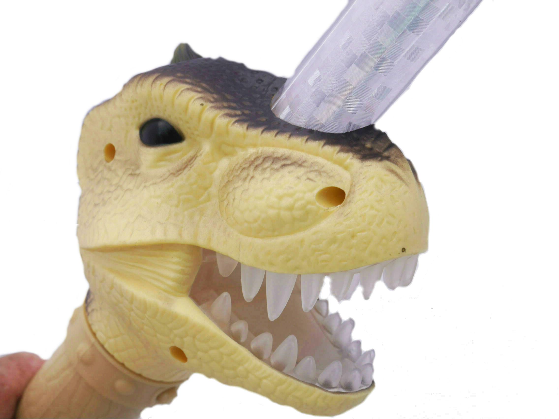 リアルな恐竜の顔をしたダイナソードです