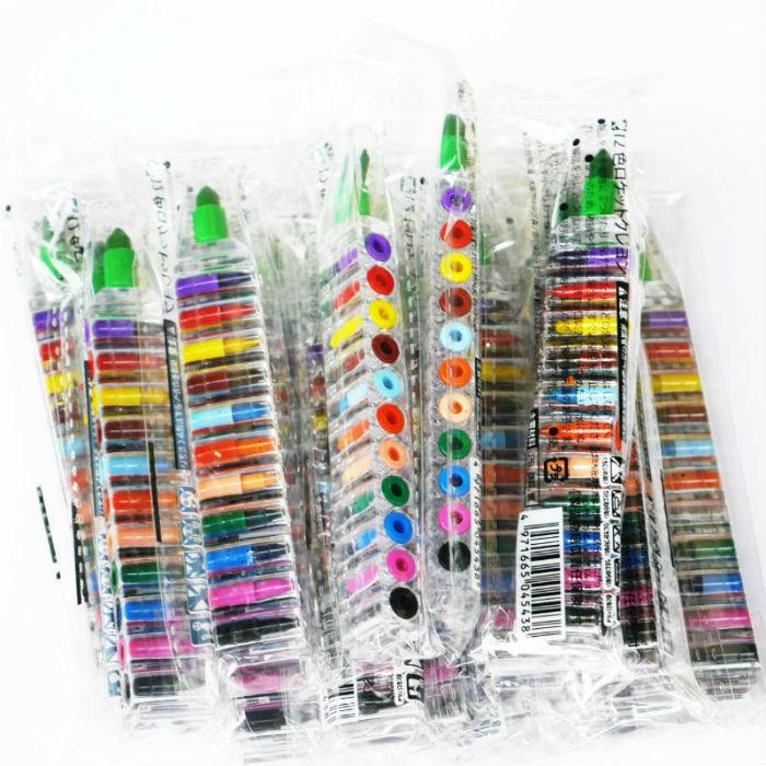 格安文具 ペンケースにも収まり,たくさんの色を持たなくてもいいんです