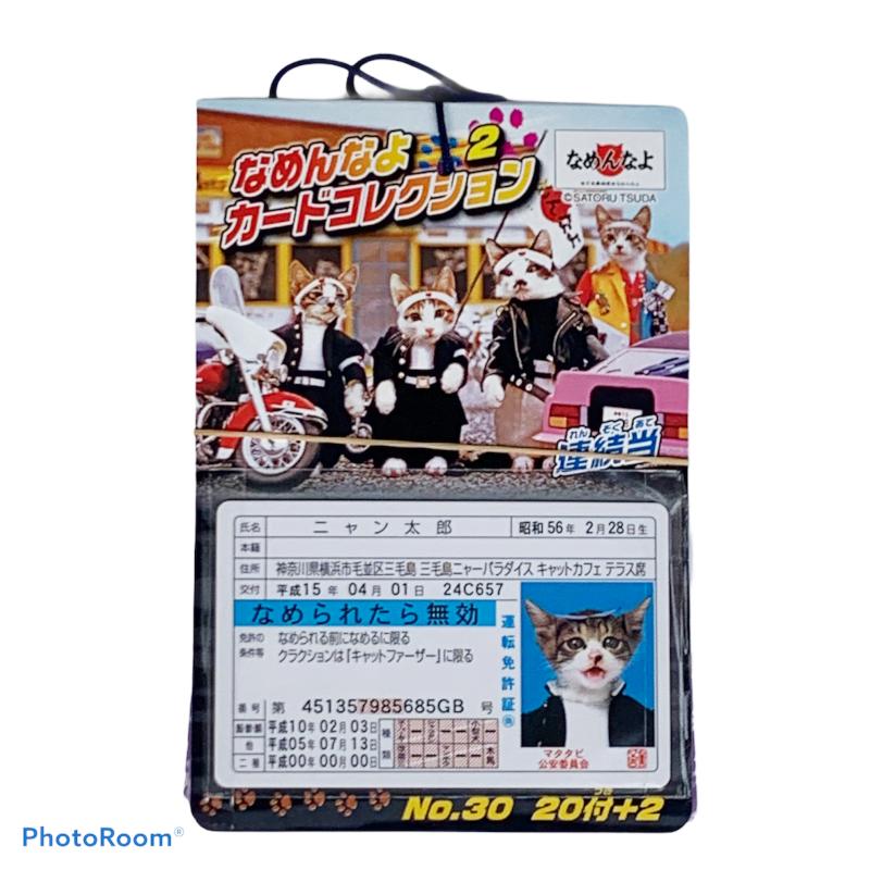 なつかしいなめんなよ!の免許証大フィーバーした なめ猫は今も健在 1冊に20枚のカード入り 薬局や病院のがんばった子供にプレゼント