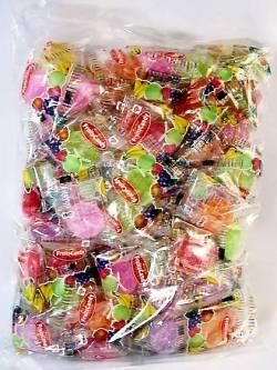 大量注文・即日発送承ります。ミックスピロー 少し大きめの平たいフルーツキャンディです ノベルティーやお店配布用にお薦め