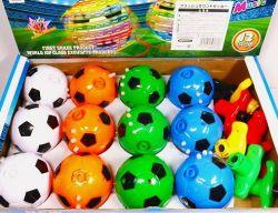 光るサウンドサッカー駒】スターターを押すと サッカーボール駒がミュージックを鳴らしながらクルクル回転します♪