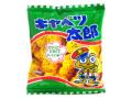 キャベツ太郎20円という安さが駄菓子の良さです ころころと丸く 子供が好きなソース味スナック。なんと青のりがまぶしてあります