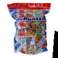 懐かしい丸川製菓のマーブルガム 夏でも溶けないようにコーティングをしてます。オレンジなど人気のフルーツ味+コーラと味は5種類