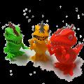 恐竜君が勢ぞろい イベントの景品やお客様プレゼントに