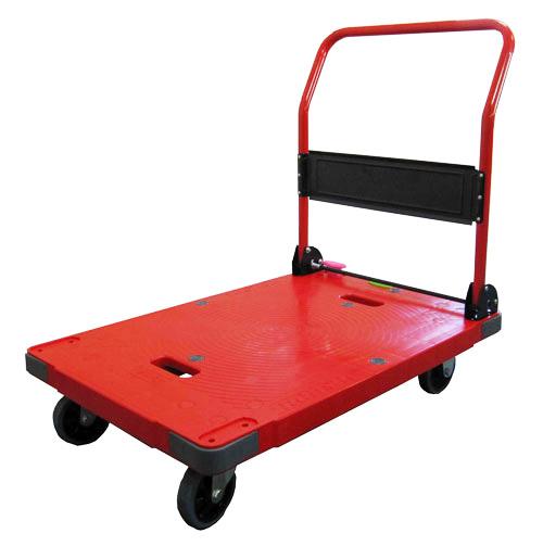 【SONAE】レスキューキャリー(赤)DSK-R301B2 積載荷重300Kgの台車 緊急時のお助けモノ!ワンタッチ操作の簡単ブレーキ搭載