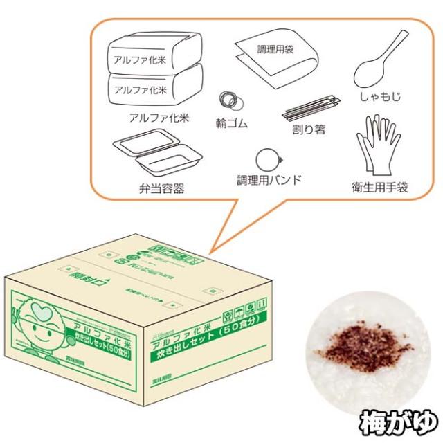アルファ化米 炊き出しセット 梅がゆ