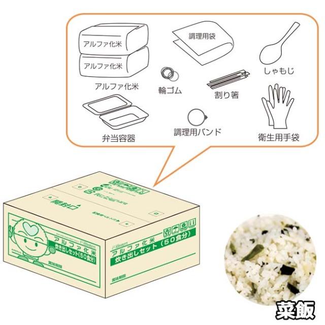 アルファ化米 炊き出しセット 菜飯