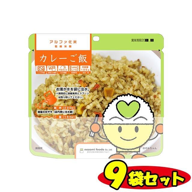 アルファー化米 カレーご飯