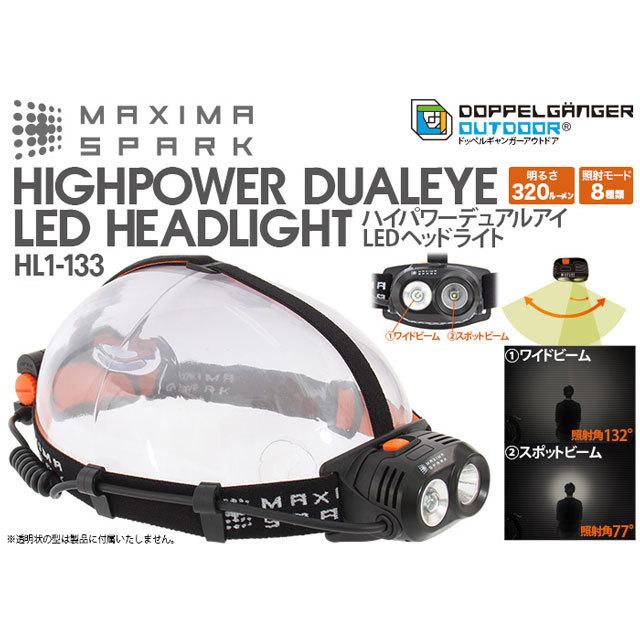 ハイパワーデュアルアイLEDヘッドライト HL1-133