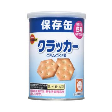 【ブルボン ミニクラッカー 1食75g 1ケース24食入り】非常食 お菓子 缶入り 保存食 携行食