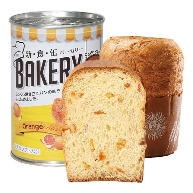 缶入りソフトパン オレンジ味