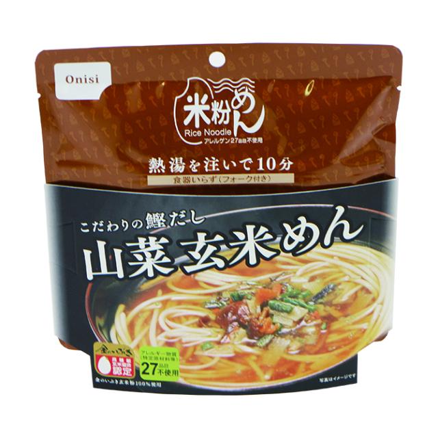尾西 山菜玄米麺 メイン
