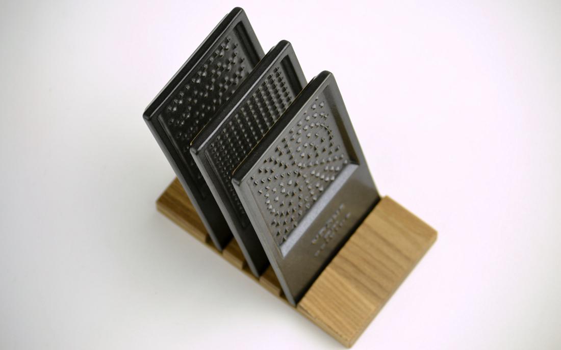 LOLO ロロ カードおろしセット しょうが にんにく わさび 黒 磁器