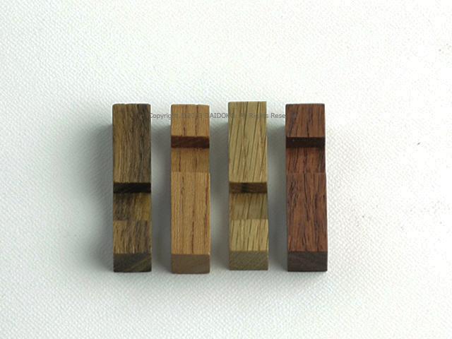 カコイプロダクツの天然木の箸置き6個セット