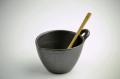 LOLO ロロ かきまぜ鉢 納豆鉢 鉄黒 陶器 かきまぜへら付