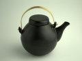 イブキクラフト 煎じ土瓶(真鍮+陶器) 黒 直火OK