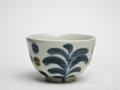 有田焼のKIHARA(キハラ)の呉須草花 お茶碗