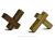 カコイプロダクツの天然木の箸置き9個セット