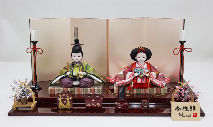 雛人形 今様雛 縫nui /衣裳着親王飾り正絹C(お顔 ゆめ)