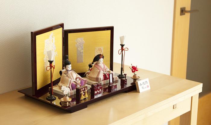 雛人形 今様雛 縫nui /木目込み親王飾り正絹E(お顔 ゆめ)