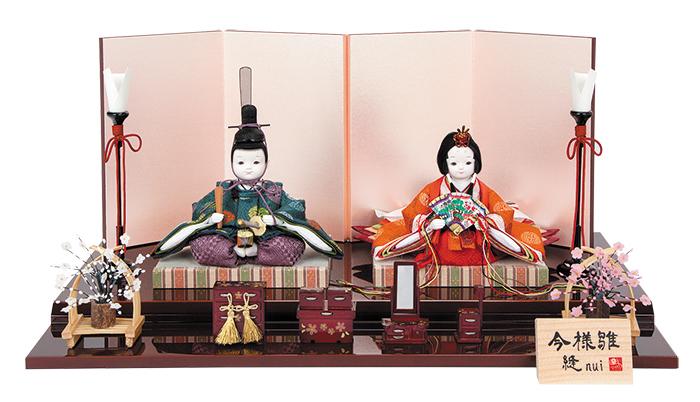 雛人形 今様雛 縫nui /衣裳着親王飾り正絹H (お顔 ゆめ)
